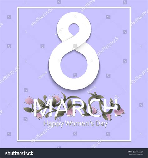 s march post card template 8 march greeting card template international stock vector