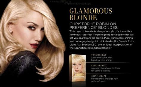 hair colour new adverts 2015 new gwen print ad for l oreal superior preference hair