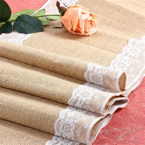 Sale Burlap Hessian Lace っ Wedding Wedding Table
