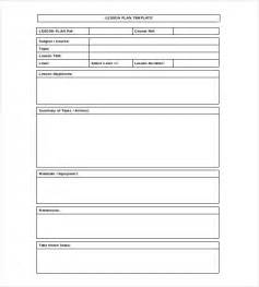 Lesson Plan Word Template by Blank Lesson Plan Template 15 Free Pdf Excel Word