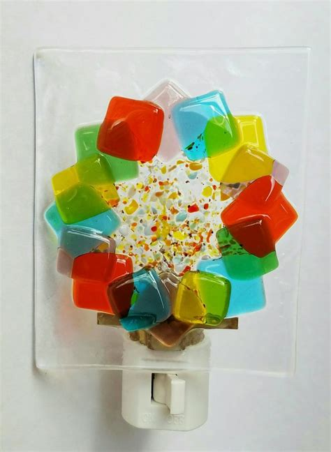 fused glass night lights 415 best images about fused glass lights and clocks on