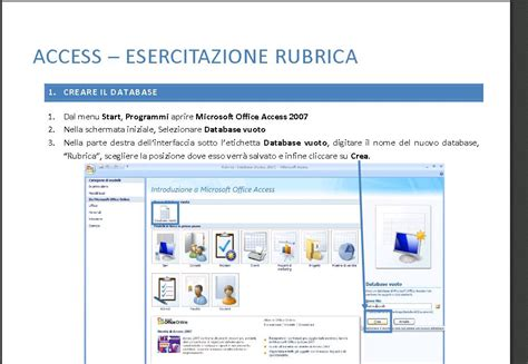 dispense excel dispense di access programmi access ed excel