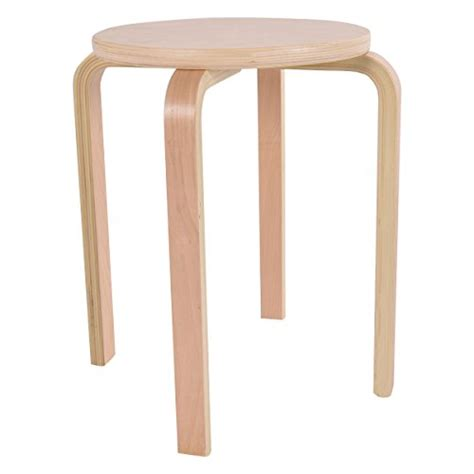Bentwood Stacking Stools by Costway Set Of 4 17 Inch Bentwood Stools Stacking Home