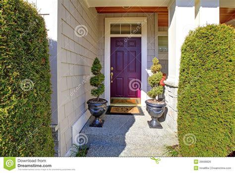Front Door In Purple Plum Color Royalty Free Stock Image Plum Front Door