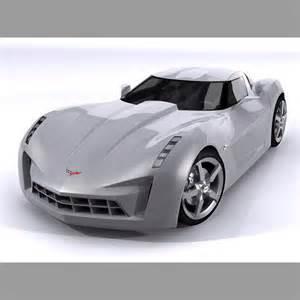 chevrolet corvette c7 stingray concept 3d model max obj