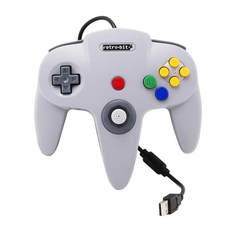 retro bit classic  bit controller usb grey gamepad