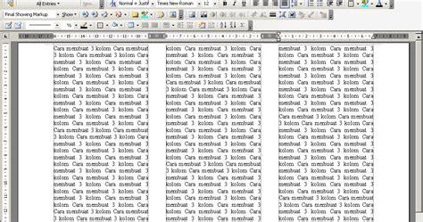 bagaimana cara membuat halaman di word 2013 tips komputer cara membuat atau mensetting kolom columns