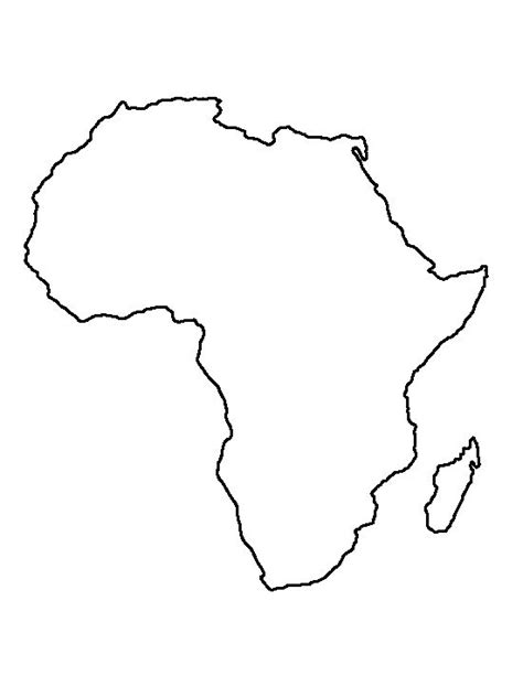 printable african art africa pattern use the printable outline for crafts