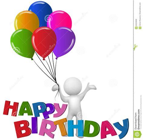 imagenes en 3d de feliz cumpleaños homem do feliz aniversario 3d com bal 245 es ilustra 231 227 o do