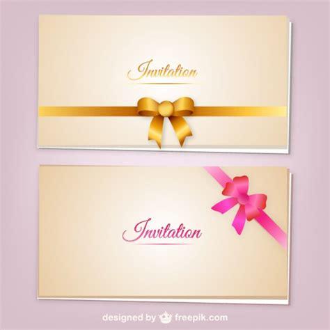 design carte d invitation cartes d invitation avec des rubans vecteur t 233 l 233 charger