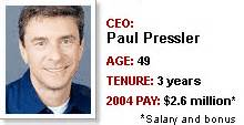 Gap Ceo Paul Pressler Fired by Fortune Investor Guide Paul Pressler Gap Feb 6 2006