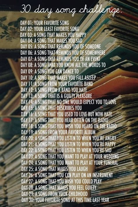 30 day song challenge 2015 day 25 the platter 30 days song challenge 30 day songs and challenges