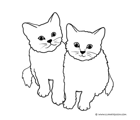 clipart cat cat coloring pages