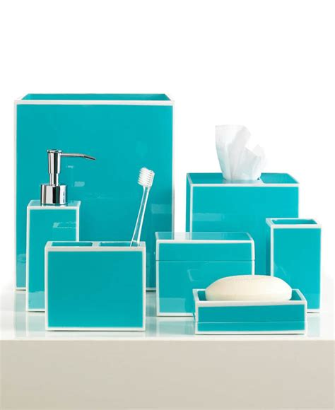 Blue Soho Bath Accessories Everything Turquoise Turquoise Blue Bathroom Accessories
