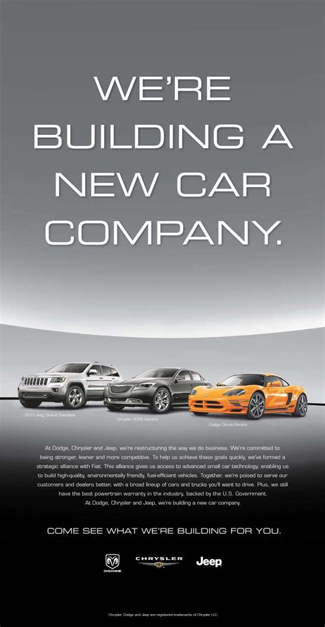 chrysler advertising chrysler launches new ad caign