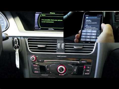 Audi Concert Radio by Audi Scottsdale Pair Your Android Device With
