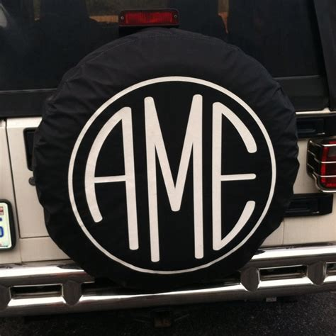 Jeep Initials Monogram Tire Cover On The Hunt