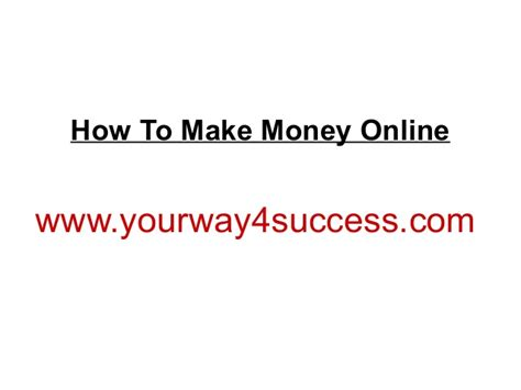 Online Ways To Make Money Fast - how to make money online fast the best ways to make money online