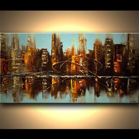 Painting And Cityscapes original abstract painting city textured on