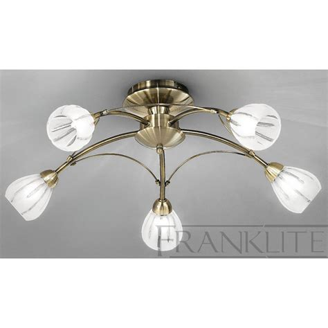 Franklite Fl2207 5 Chloris Bronze 5 Light Flush Ceiling Lights Uk