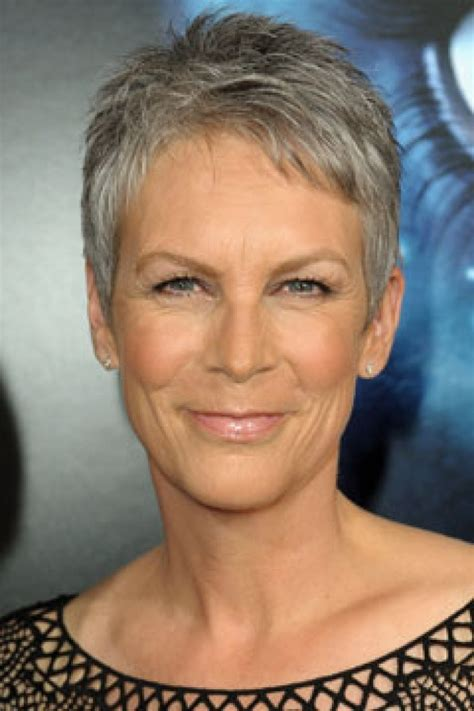 inspirations of very short hairstyles for older women cute very jamie lee curtis pretty with graying hair i met them not