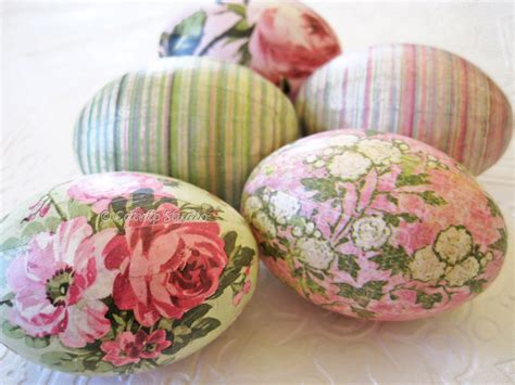 Decoupage Eggs - easter eggs world pink decoupage mint by