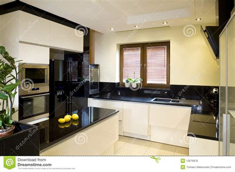 october 2009 housetrained homes interiors domestic modern fitted kitchen stock photo image of luxurious