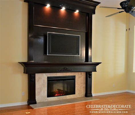 Brown Fireplace by Shiplap Fireplace