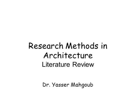 Research Methods In Architecture Literature Review Architectural Design Research Methods