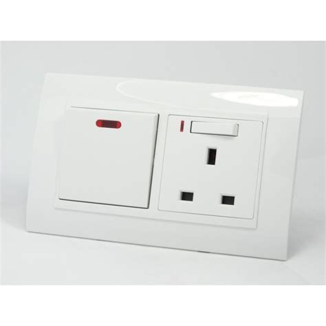 Multi 13a Neon i lumos as luxury white plastic arc 20a switch with