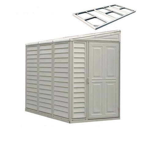 Lowes Vinyl Storage Sheds by Shop Duramax Building Products Common 8 Ft X 4 Ft