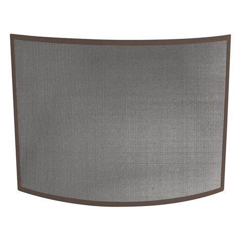 fireplace screen home depot uniflame curved bronze single panel fireplace screen s