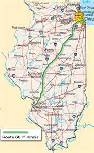 us route 66 map u s route 66 in illinois