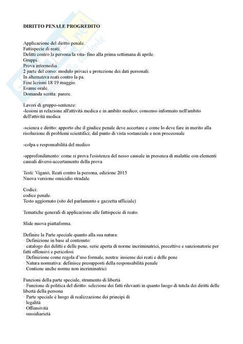 dispensa diritto penale appunti diritto penale progredito