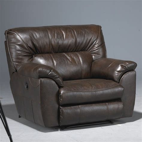 catnapper power recliners catnapper nolan leather power cuddler recliner in godiva
