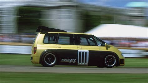 renault minivan f1 this is how you fire up the insane renault espace f1 van