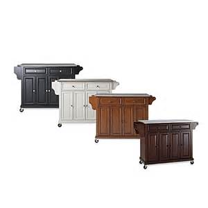 buy crosley kitchen cart island with stainless steel top buy kitchen islands and carts from bed bath amp beyond