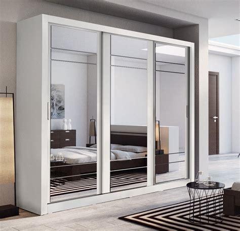 Sliding Door White Wardrobe by Arti 2 White 3 Sliding Door Wardrobe 250cm Arthauss