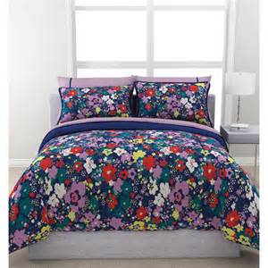 Floral Bed Set Formula Ditsy Floral Reversible Bed In A Bag Bedding Set Navy Walmart