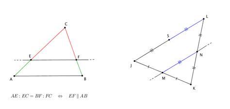 angoli interni di un triangolo le rette parallele e il teorema di talete geometria piana