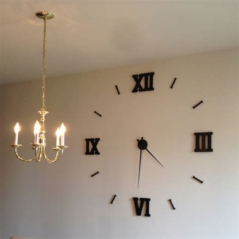 wall clock ideas homemade giant wall clock cheap and easy to put together