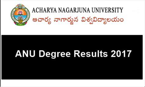 Acharya Nagarjuna Mba Syllabus Regular by Anu Degree 1st Sem Results Oct 2017 Manabadi Ug I Sem