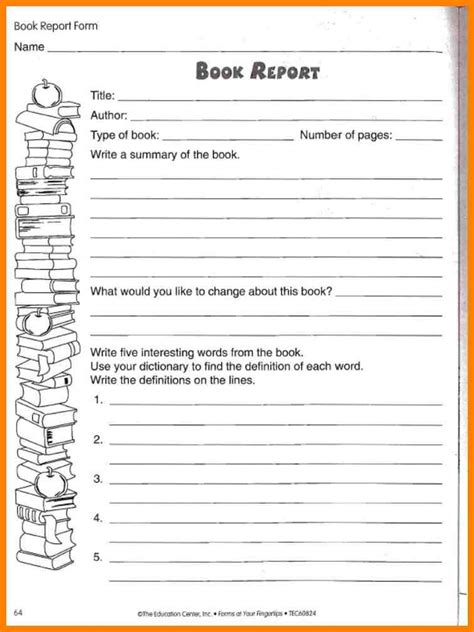 book report template 6th grade 10 book report template 5th grade dialysis