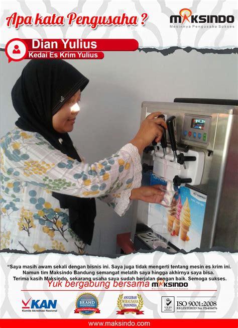 membuat usaha lancar kedai es kkrim yulius dengan adanya mesin es krim dari