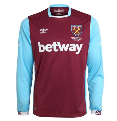T Shirt Best Westham Black 2016 2017 west ham home sleeve football shirt for