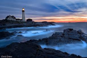 Cape Neddick Light New England Lighthouses Sunrise At Portland Head Light