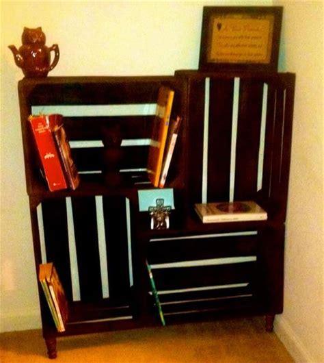 diy crate bookshelf pallet furniture diy