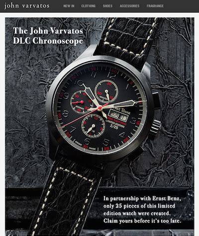 email format john varvatos luxury daily