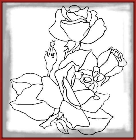 imagenes bonitas para colorear de flores creativos dibujos para pintar de rosas imagenes de rosa