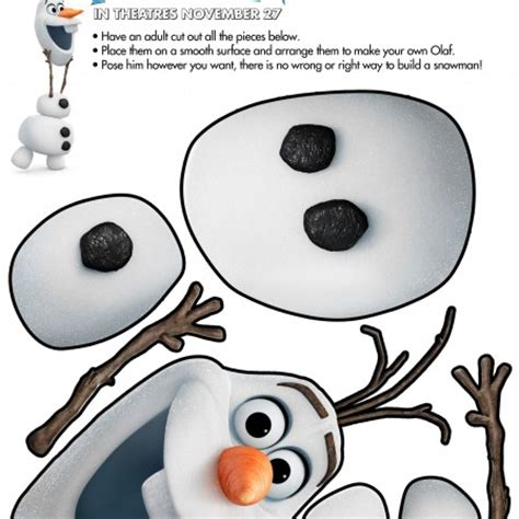 printable olaf games diy olaf costume instructions highlights along the way